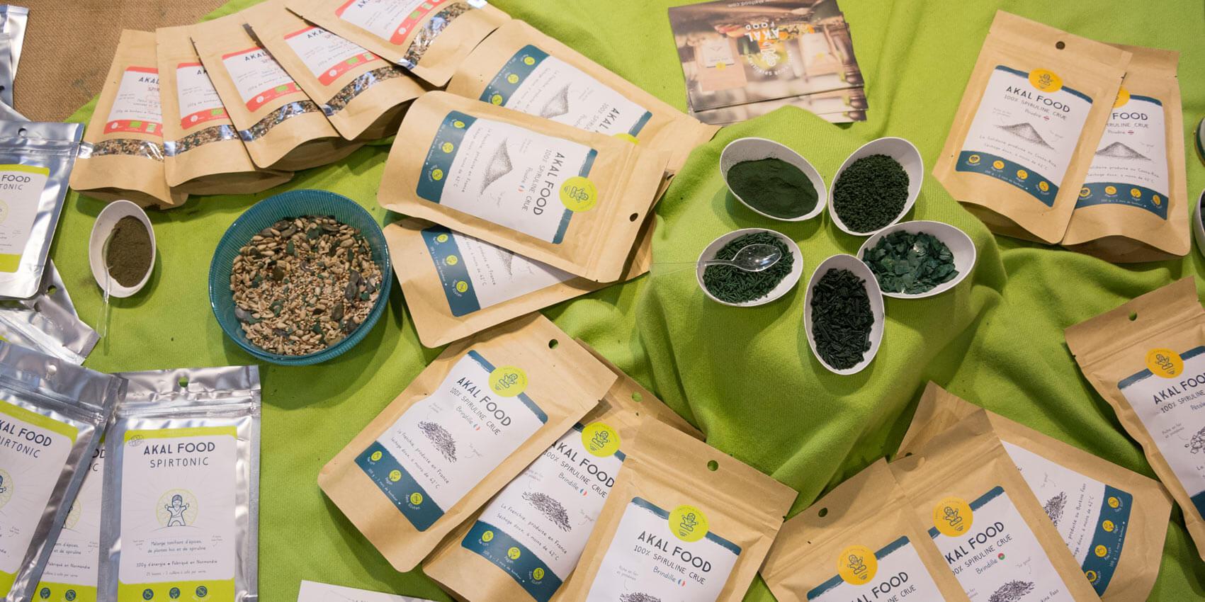 Spirulina Produkte - AKAL FOOD die Vollwert Spirulina