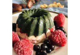 Raw vegan Cupcakes mit Spirulina
